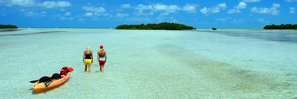 The pristine waters of the Florida Keys
