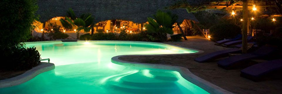 Unguja pool at night