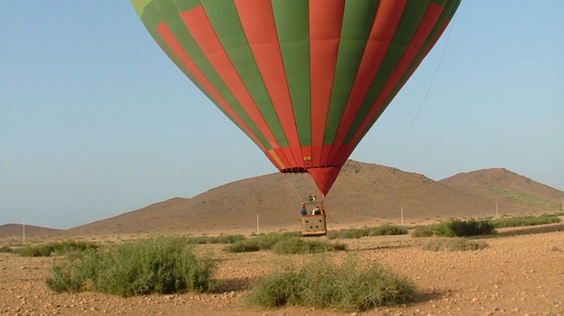 Hot air balloon ride over Morocco