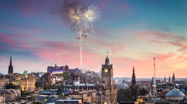 Edinburgh, fireworks