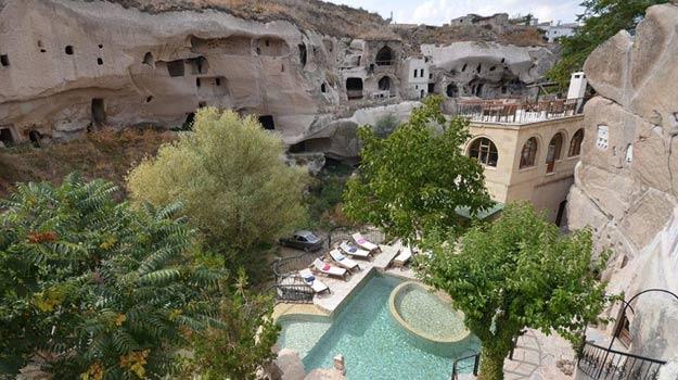 Sleep in a cave at Gamirasu, Cappadocia