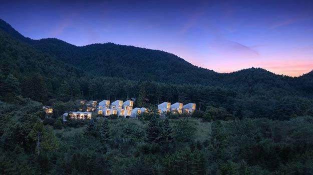 Swap camping for glamping in Japan at Hoshinoya Fuji