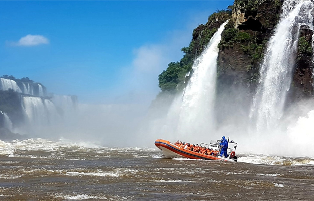 Boat trip at Iguazu Falls, Argentina