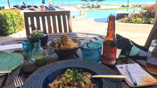 Lunch at Rosewood Mayakoba, Mexico