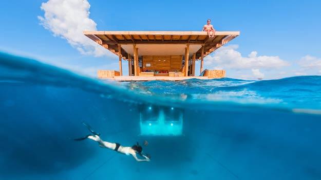 Underwater Room, Manta Island Pemba