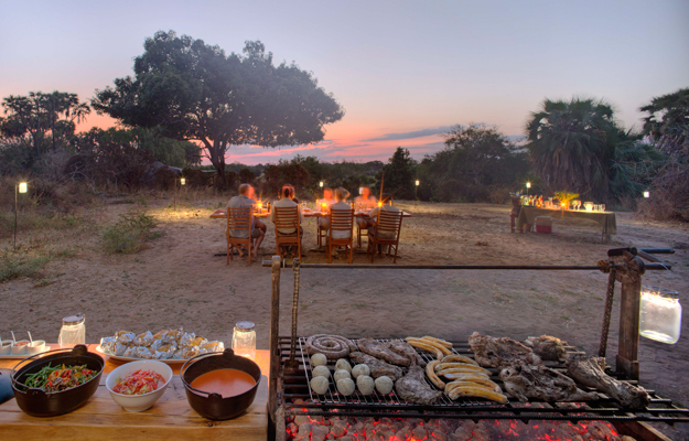 Sunset barbecue, Selous Game Reserve, Tanzania
