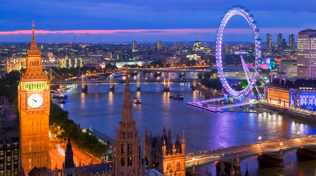 London, Big Ben, London Eye, River Thames