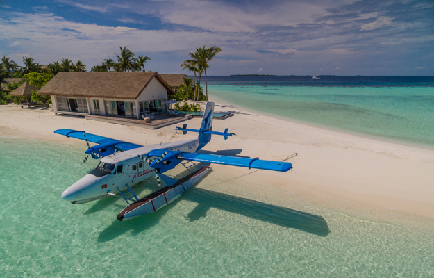 Four Seasons Private Island Maldives at Voavah, plane