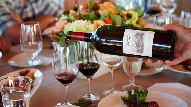 Wine tasting at Jordan Vineyards, Sonoma