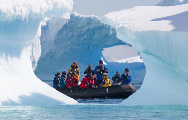 Zodiac in Antarctica, by Sandra Walser